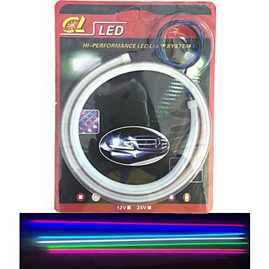 2kpl säteilevät putki johti pehmeä lamppu auto kulmakarvojen highlight led valo syttyy artikkeli 60 cm
