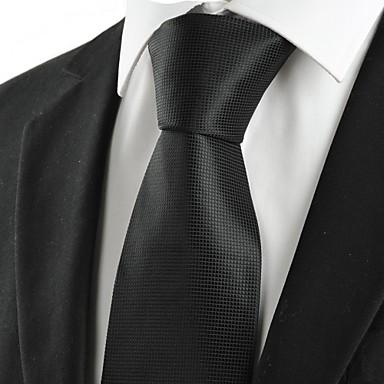 Homens Luxo Quadriculado Clássico Festa Casamento Gravata - Fashion Criativo