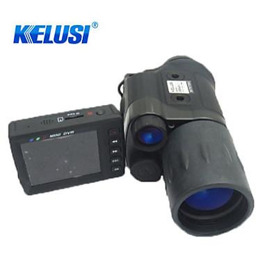 Kelusi 5X42 mm מונוקולרי ראיית הלילה Military ראיית לילה Hunting Military BAK4 ציפוי מרובה מלא אינפרא-אדום 6.5° פוקוס מרכזי