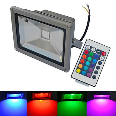20W LED-valonheittimet 1 COB 1500-1600 lm Lämmin valkoinen / Kylmä valkoinen / RGB Kauko-ohjattava / Vedenkestävä AC 85-265 V 1 kpl