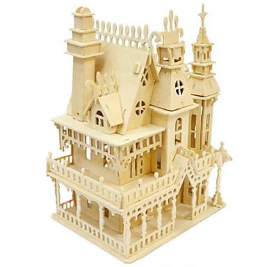 voordelige 3D-puzzels-3D-puzzels Houten puzzels Modelbouwsets Huis Puinen Jongens Meisjes Speeltjes Geschenk