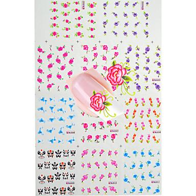 만화 / 꽃 / 러블리-핑거 / 발가락-3D 네일 스티커-이 외-11pcs-6.4*5.3cm