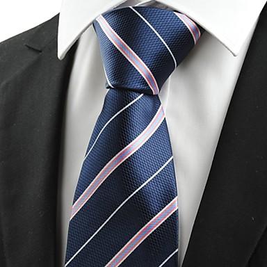 Gravata(Azul / Vermelho,Poliéster)Listrado