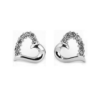 Sitne naušnice Ljubav luksuzni nakit Kubični Zirconia imitacija Diamond Legura Pink Rose Gold Jewelry Za 2pcs