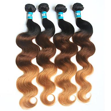 Brazilian Hair Body Wave Virgin Human Hair Others 4 Bundles Human Hair Weaves Soft 1b/4/27 Human Hair Extensions