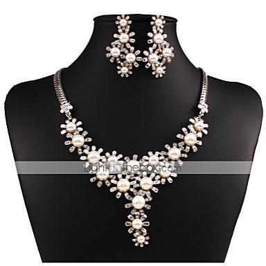 여성제품-빈티지 / 파티-목걸이 / 귀걸이(플래티넘 도금 / 합금 / 모조 다이아몬드 / 모조 진주)