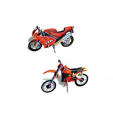 3D-puslespill Puslespill Papirmodell Lekemotorsykler Pedagogisk leke Motorsykkel 3D Moro Papir Klassisk Motorsykkel Barne Gave