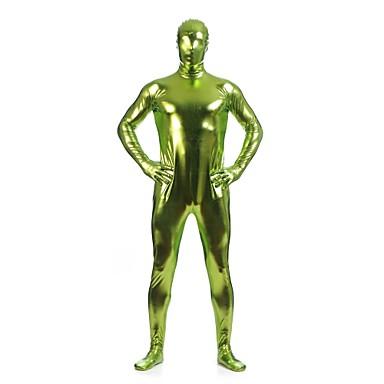 Shiny Zentai Anzüge Morphsuit Ninja Zentai Kostüme Cosplay Kostüme Grün einfarbig Gymnastikanzug/Einteiler Zentai KostümeElasthan