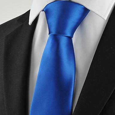 Krawatte(Blau,Polyester)Einfarbig
