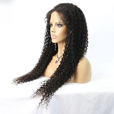 Žene Perike s ljudskom kosom Ljudska kosa Full Lace Lace Front Perika s prednjom čipkom bez ljepila 130% 150% Gustoća Ravna Perika Boja