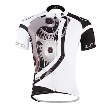 ILPALADINO Camisa para Ciclismo Homens Unisexo Manga Curta Moto Camisa/Roupas Para Esporte Blusas Roupa de Ciclismo Secagem Rápida