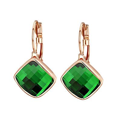Damen Kristall Tropfen-Ohrringe - Kubikzirkonia Orange / Grün Für