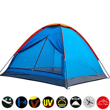 3-4 Personen Zelt Einzeln Camping Zelt Einzimmer Feuchtigkeitsundurchlässig Wasserdicht Rasche Trocknung UV-resistant Regendicht