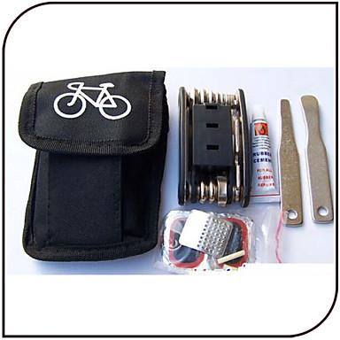 abordables Outils, nettoyants et lubrifiants de Vélo-Outils & Kits de Réparation Kit de réparation Etanche Portable Durable Pratique Pour Vélo de Route Vélo tout terrain / VTT Vélo à Pignon Fixe Cyclisme Acier inoxydable ABS Noir 1 pcs