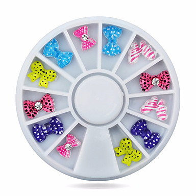 Lijep-Nakit za nokte- za Prst / nožni prst-6cm wheel-Akril-1wheel bow tie nail decoration wheel