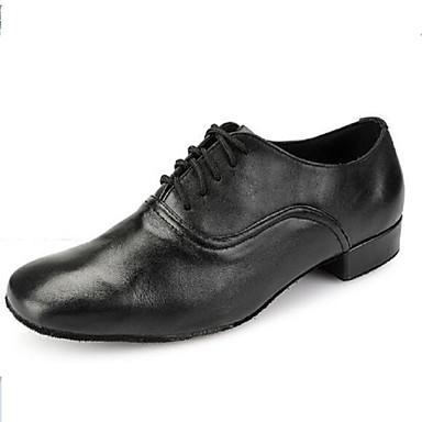 Nemoguće personalizirati-Ženske / Muške-Plesne cipele-Latino-Umjetna koža-Niska potpetica-Crna