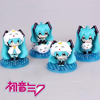 애니메이션 액션 피규어 에서 영감을 받다 보컬로이드 Hatsune Miku PVC 3.5 CM 모델 완구 인형 장난감