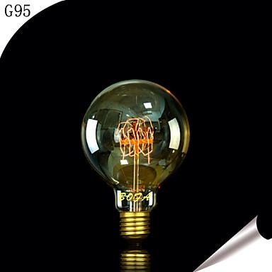 1pç 40W E27 E26/E27 E26 G95 Branco Quente 2300 K Incandescente Vintage Edison Light Bulb 220V 85-265V
