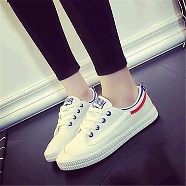 패션 스니커즈-야외 / 캐쥬얼 / 운동-여성의 신발-컴포트-캔버스-플랫-블랙 / 블루 / 그린