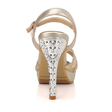 Aiguille Evénement Habillé cristal Mariage Eté Talon 04946505 Paillette Argent Pour Plateau Tulle Femme Soirée Doré Talon Printemps Chaussures amp; YZz7S