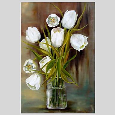 billige Trykk-Trykk Strukket Lerret Trykk - Blomstret / Botanisk Moderne Europeisk Stil Kunsttrykk