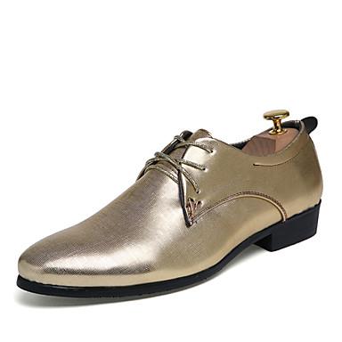 Herre sko Kustomiserte materialer / Kunstlær Vår / Høst Komfort Oxfords Sølv / Gylden / Burgunder / Bryllup / Fest / aften / Pen sko