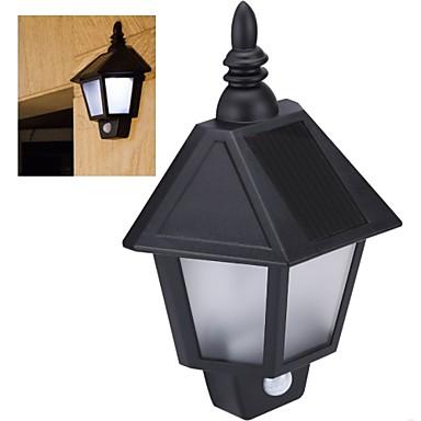 הקיר האטום PIR אור מנורת חיישן גוף אדם בתנועת אור האנרגיה סולארית נטען קיר גן מנורת קיר