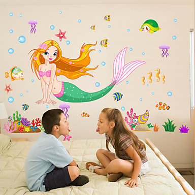 Cartoon Design Wand-Sticker Flugzeug-Wand Sticker Dekorative Wand Sticker, Vinyl Haus Dekoration Wandtattoo Wand