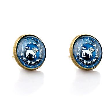 Sitne naušnice Simple Style Sintetički gemstones Reciklirani papir Legura Animal Shape Lav Jewelry Za Vjenčanje Party Dnevno Kauzalni