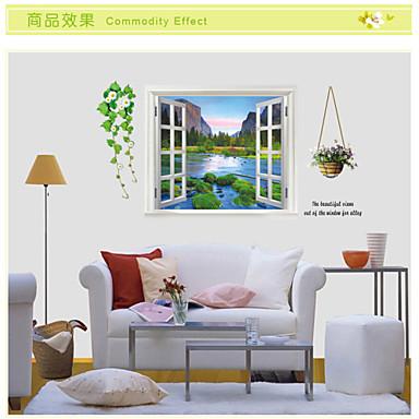 Landskap Romantik 3D Veggklistremerker 3D Mur Klistremerker Dekorative Mur Klistermærker, Vinyl Hjem Dekor Veggoverføringsbilde Vegg