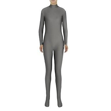 Buy Zentai Suits Ninja Cosplay Costumes Gray Solid Leotard/Onesie Spandex Lycra Unisex Halloween