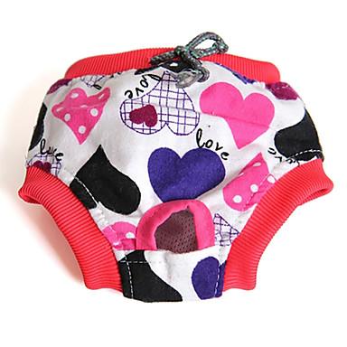 Кошка Собака Брюки Одежда для собак Бант Мультипликация Цвет в случайном порядке Хлопок Костюм Для домашних животных Муж. Жен. На каждый