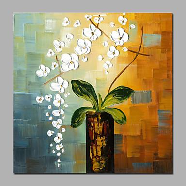 Håndmalte Abstrakt / Landskap / Still Life / Blomstret/Botanisk / Abstrakte PortrettMiddelhavet / Parfymert / Moderne Et Panel LerretHang