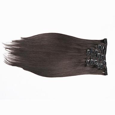 grampo em extensões de cabelo humano clipe reta peruano em extensões do cabelo clipe 1b natural na extensão do cabelo humano