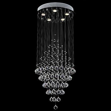 מודרני / עכשווי קריסטל LED נברשות Ambient Light עבור סלון חדר שינה מטבח חדר אוכל משרד חדר ילדים כניסה חדר משחק מסדרון חניה לבן חם לבן קר