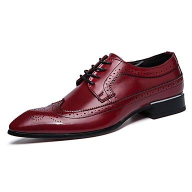 Herrn Schuhe Leder Frühling Herbst formale Schuhe Bullock Schuhe Outdoor Schnürsenkel für Hochzeit Büro & Karriere Party & Festivität