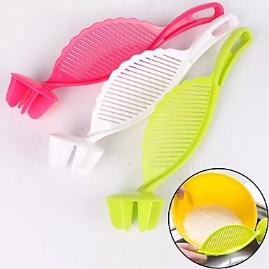 konyhai kreatív eszköz praktikus műanyag mosás tésztaszűrő szűrővel szitán