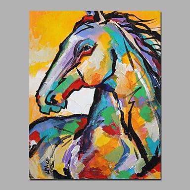 Ručno oslikana ŽivotinjaModerna Jedna ploha Platno Hang oslikana uljanim bojama For Početna Dekoracija