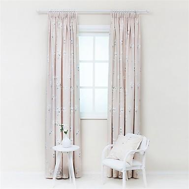 függöny Drapes Nappali szoba Poli / pamut keverék Nyomtatás