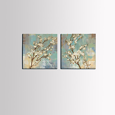 Protezala Canvas Art Cvjetni Bijela šljiva Bloom Set od 3