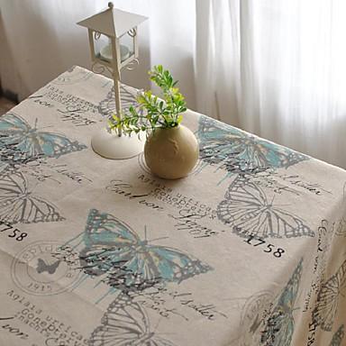 Quadratisch Verziert Tischdecken , Leinen  /  Baumwollmischung Stoff Tabelle Dceoration
