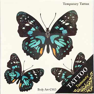 1pc dia das bruxas tatuagem pasta de tatuagem cor adesivos um animal impermeável versão maior