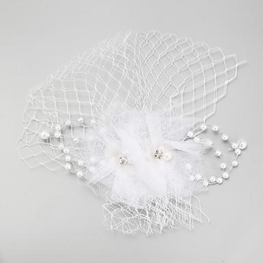 Künstliche Perle Feder Netz Kopfschmuck Kopfschmuck