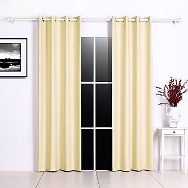 Verdunklungsvorhänge Vorhänge Schlafzimmer Solide / Geometrisch Polyester Geprägt
