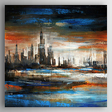 Maalattu Maisema / Abstraktit maisemakuvatModerni 1 paneeli Kanvas Hang-Painted öljymaalaus For Kodinsisustus