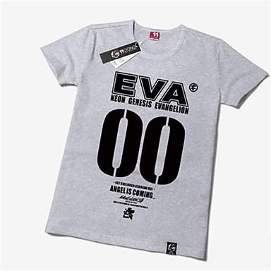 Inspiriert von NeonGenesis Evangelion Ayanami Rei Anime Cosplay Kostüme Cosplay-T-Shirt Druck Kurzarm T-shirt Für Unisex