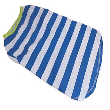 Dog Shirt / T-Shirt Blue Summer Stripe Zebra