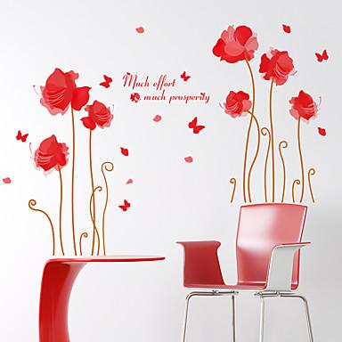 רומנטיקה / אופנה / פרחים / נוף מדבקות קיר מדבקות קיר מטוס,pvc 60*90cm