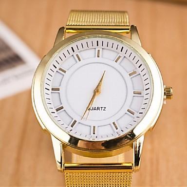 Damen Modeuhr Quartz Armbanduhren für den Alltag Legierung Band Gold
