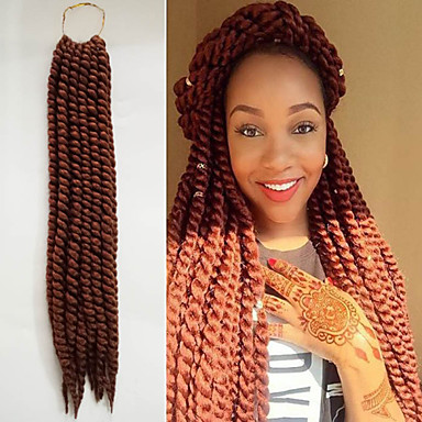 #30 Havana Twist Braids Hårforlengelse 12inch 14inch 18inch 24inch Kanekalon 2X Strand 120g/Pack gram Hair Braids